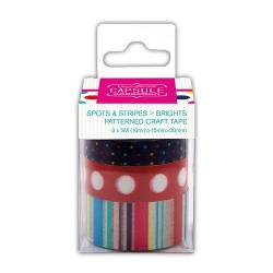 Dekoklebeband (3pcs) - Capsule - Spots & Stripes Brights