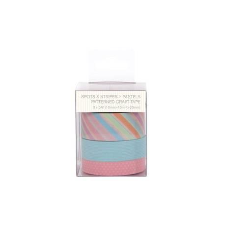Dekoklebeband (3pcs) - Capsule - Spots & Stripes Pastels