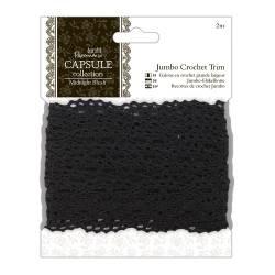 2m Jumbo Crochet Trim Häkelbordüre - Capsule - Midnight Blush