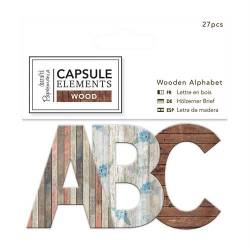 Wooden Alphabet (27pcs) - Elements Wood