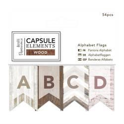 Alphabet Flags / Wimpel (54pcs) - Elements Wood