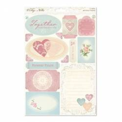 A4 Die-cut Toppers - Vintage Notes - Icons