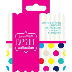 Mini Sticky Notes - Capsule - Spots & Stripes Summer Brights
