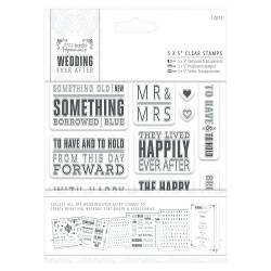 5 x 5 Clear Stamps - Topper Sentiments