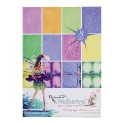 A5 Glitter Paper Pack (24Pk) - Enchanted Fairies