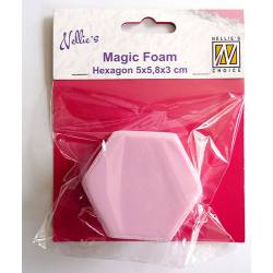Magic Foam hexagon shape 5x5,8x3cm