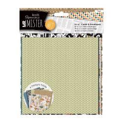 6 x 6 Cards & Envelopes (12pk) - Mr Mister