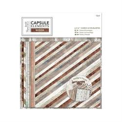 6 x 6 Cards & Envelopes (12pk) - Elements Wood
