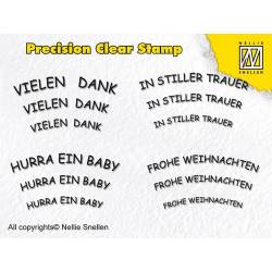Precision clear stamps / Silikonstempel - Deutsche Texte