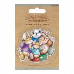 75 X 75mm Mini Clear Stamp - Country Companions - Group