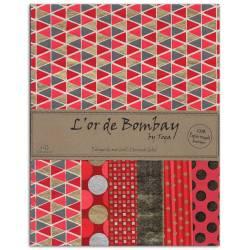 L'Or de Bombay - Rouge-Corail-Or - Papierset DIN A4
