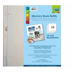 """Memory Book Nachfüllbögen 5 St. 12x12"""""""