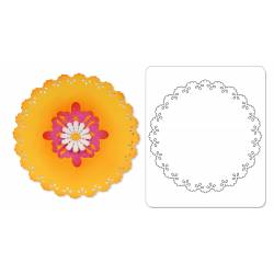 Sizzix Sizzlits die carscallop circle insert