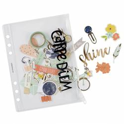 Planner essentials plastic storage pouch