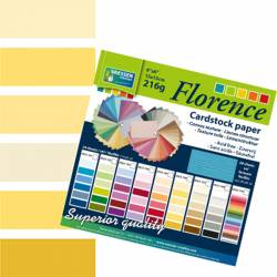 "Florence cardstock 216g 6x6"" x24 multipack gelb"