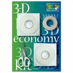 3-D-Vorteilspackung Klebeset mit Schere