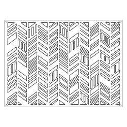 Sizzix Die Cut Thinlits - Card Front, Fancy Chevrons