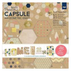 "Papermania Capsule Geometric Kraft - Paper Pad 6 x 6"""