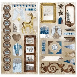 Bo Bunny sleigh ride chipboard
