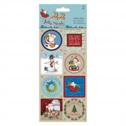 Sticker (16 Stk) - Jolly Santa