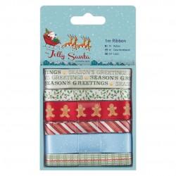 1m Schleifenband (6 Stk) - Jolly Santa
