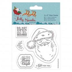 10 x 10cm Präzisionsstempel - Jolly Santa - Weihnachtsmann