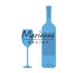 Marianne Design Creatables wine bottle & glass