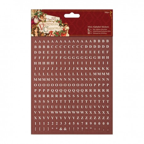 Mini-Sticker Alphabet (306Stk) - Victorian Christmas