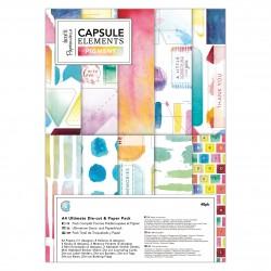 A4 Ultimativer Stanz- und Papierblock (48Bl) - Capsule Collection - Elements Pigment