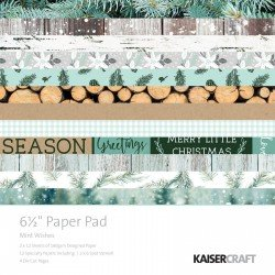Kaisercraft paper pad 16,5x16,5cm Mint wishes