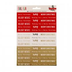 Crate paper Falala phrase stickers foil x40