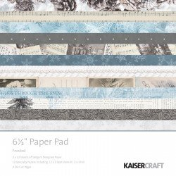 Kaisercraft paper pad frosted 16,5x16,5cm