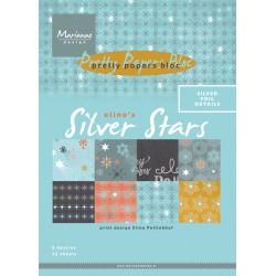 Marianne Design pretty papers bloc Eline's silver star