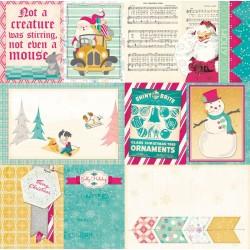 Bo Bunny candy cane lane 30,5x30,5cm snowflake paper