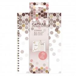 A5 Notizbuch - Capsule Collection - Geometric Mocha