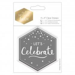 10 x 10cm Präzisionsstempel - Modern Lustre - Lasst Uns Feiern