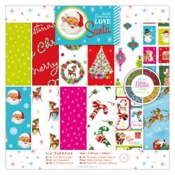 15 x 15cm Papierblock (36Bl) - Love Santa