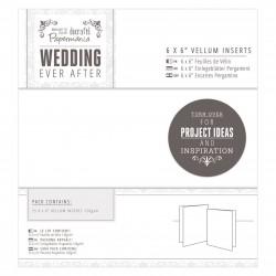 15 x 15cm Einlegeblätter Pergament (25Stk) - Wedding