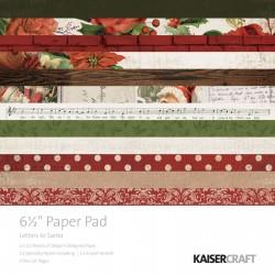 Kaisercraft paper pad 16,5x16,5cm Letters to santa