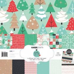 "Kaisercraft Holly jolly paper pack 12x12"""