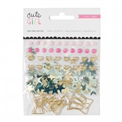 Crate paper Cute Girl embellishments