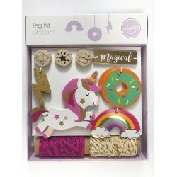 Unicorn Tag Kit Tag-50pcs/ rope-10y/ stamp-3pcs