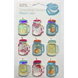 Mason Jars Dimensional Stickers