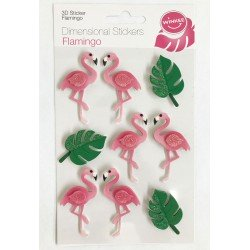 Flamingo Dimensional Stickers