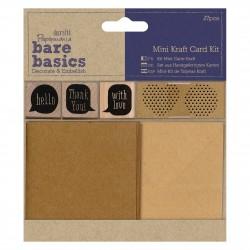 Mini Kraftpapier Kartenset - Bare Basics