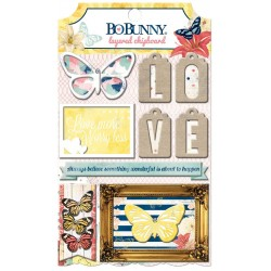 Bo Bunny sweet life layered chipboard