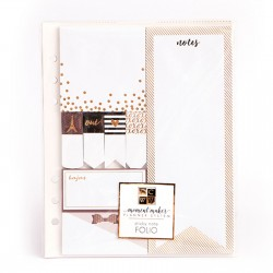 American Crafts DCWV accessories planner sticky note folio