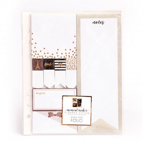 American Crafts DCWV accessories planner sticky note folio