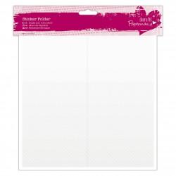 Aufbewahrungsmappe Sticker (48 Fächer) - Durchsichtig
