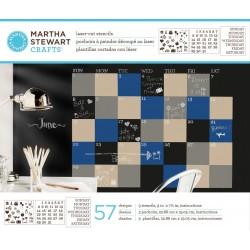 Martha Stewart laser-cut stencil calendar